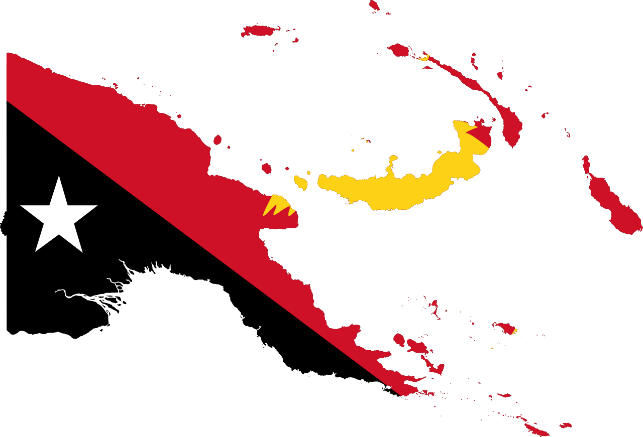 PNG flag map (Wikimedia Commons/Darwinek CC BY-SA 3.0)