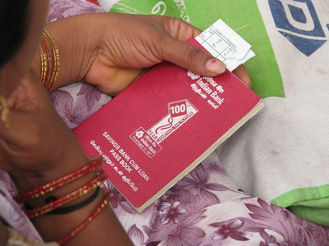 Savings passbook, India (McKay Savage/Flickr CC BY 2.0)