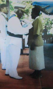 Rubi Miranka receiving her MBE in 2010