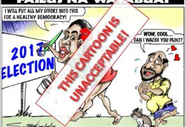 Post Courier cartoon