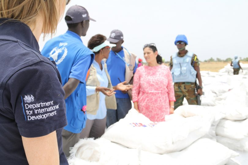 Priti Patel visiting South Sudan, April 2017 (Robert Oxley/DFID/Flickr CC BY 2.0)