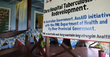 Daru Hospital interim TB ward constructed in 2012 (AusAID/DFAT/Flickr CC BY 2.0)