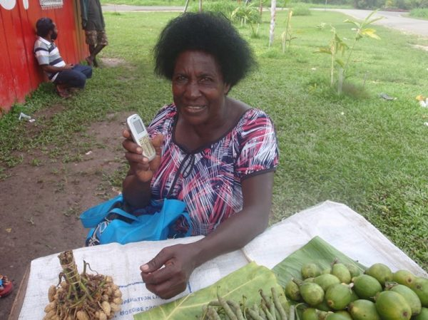 Digicel top-up seller, Buka, Autonomous Region of Bougainville (image: Amanda Watson)