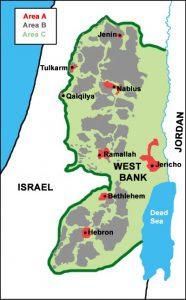 West Bank map (source: wordpress.com)