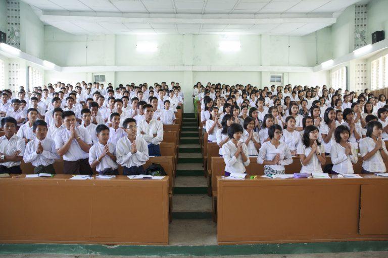 Students at Yezin Agricultural University, Naypyidaw, Myanmar (AVI/Harjono Djoyovisono Harjono)