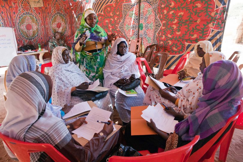 Women attend a workshop on UN SCR 1325 on Women, Peace and Security - Malha, North Darfur (Sojoud Elgarrai/UNAMID/Flickr CC BY-NC-ND 2.0)