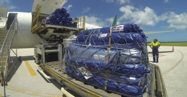 Emergency supplies in Tonga following Cyclone Ian (Louise Scott/DFAT/Flickr CC BY 2.0)