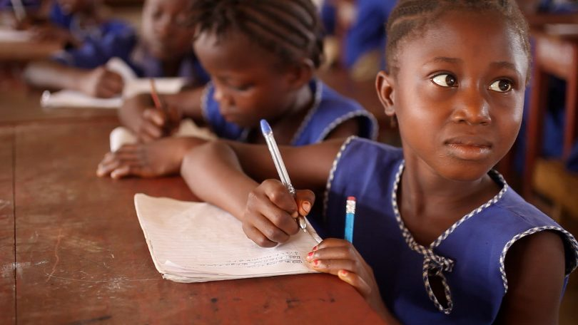 Girl writing in a school in Sierra Leone (GPE/Stephan Bachenheimer CC BY-NC-ND 2.0)
