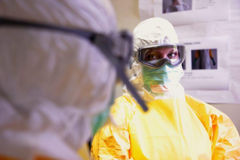 Mock Ebola treatment unit (Cleopatra Adedeji/CDC/Flickr CC BY 2.0)