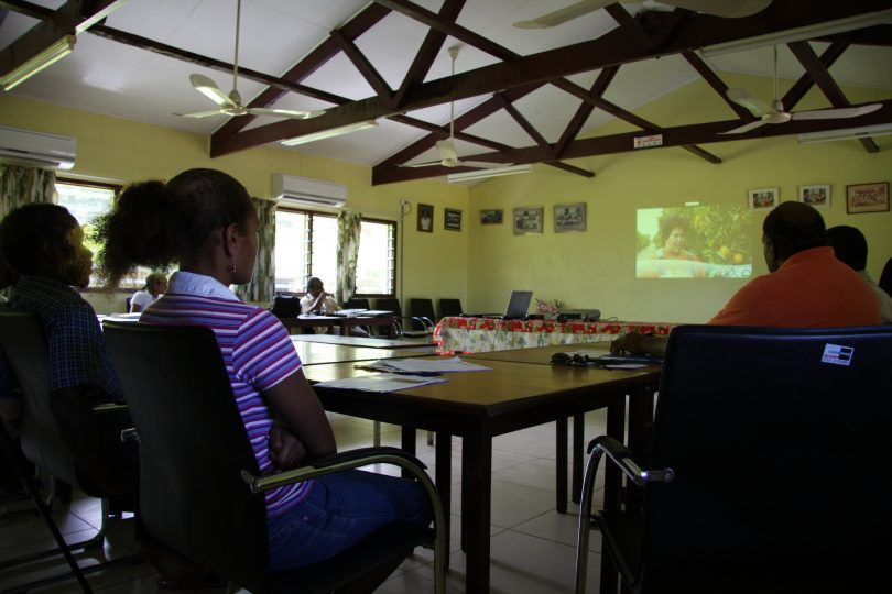 Seasonal workers from Vanuatu attend a pre-departure briefing (DFAT/Flickr/CC BY 2.0)