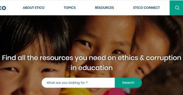 Screenshot of Etico website on 2 November 2017