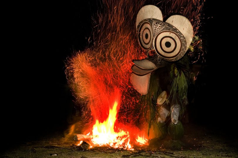 Fire dancer from the Baining tribe, PNG (Taro Taylor/Flickr/CC BY 2.0)