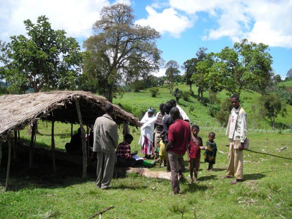 Outreach clinic, Gebera, Decha Woreda, Kafa Zone, Ethiopia (Credit: Ruth Jackson)