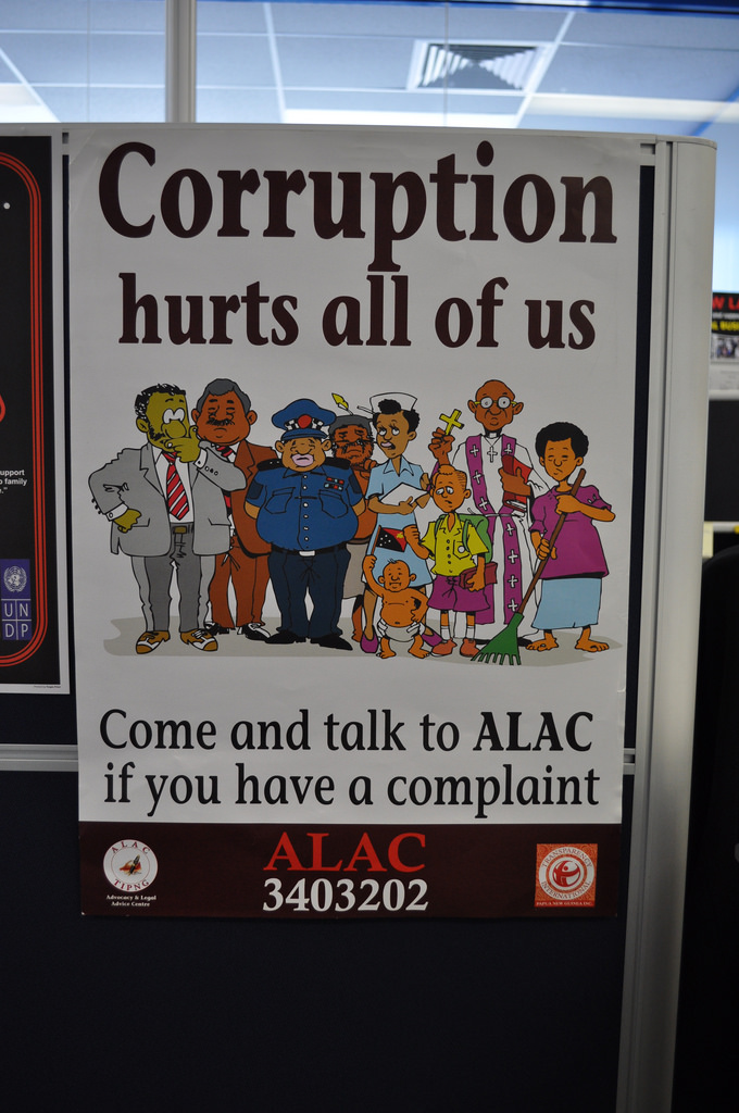 PNG anti-corruption poster (Raymond June/Flickr/CC BY-ND 2.0)