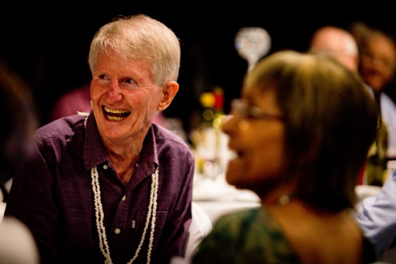 Sean Dorney at a tribute dinner at the Wests rugby union, Brisbane (Credit: Patrick Hamilton)
