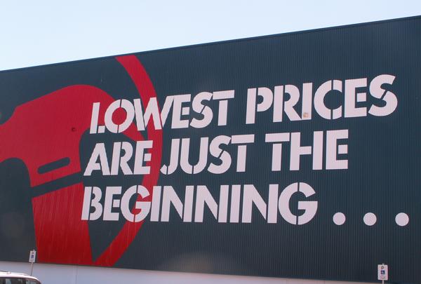 Bunnings Warehouse slogan (Scott Lewis/Flickr/CC BY 2.0)