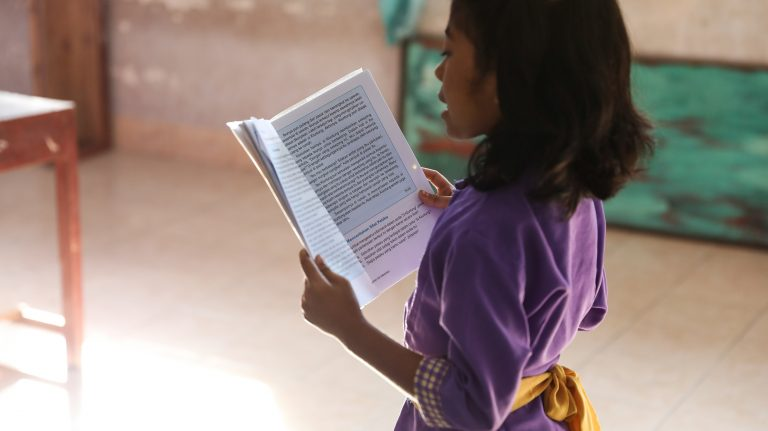 Primary school students in Bima face many learning challenges, including low literacy levels, remoteness and issues of teacher training (Credit: INOVASI Program)