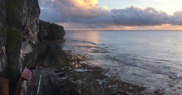 A sunset in Makefu village, Niue (Credit: Erin Thomas)
