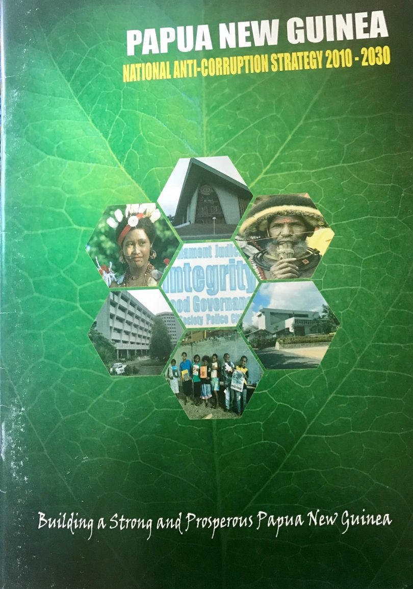 Front cover of PNG's National Anti-Corruption Strategy