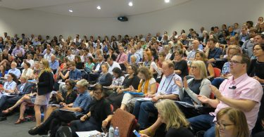 Audience for 3MAP at the 2018 Australasian Aid Conference