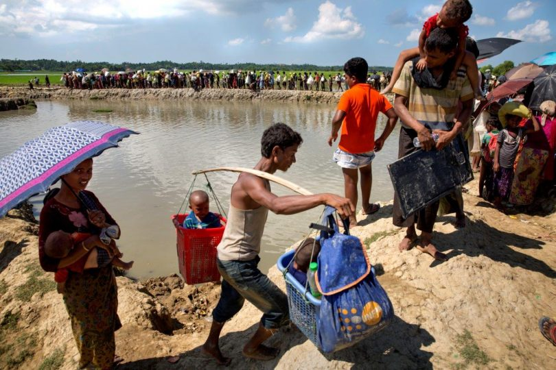 Many Rohingya were forced to trek for a week to reach safety in Bangladesh (Credit: Naymuzzman Prince/UNFPA)