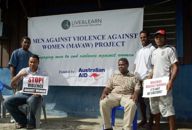Staff from the Men Against Violence Against Women project in Solomon Islands (Irene Scott/DFAT/Flickr/CC BY 2.0)