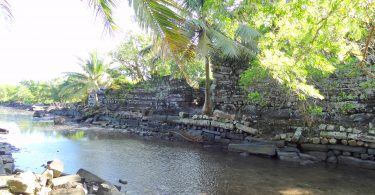 Nan Madol, an archeaological site in the Federated States of Micronesia (Credit: George Grace)