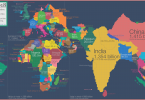 The world map redrawn according to country populations (Credit: Max Roser for Our World in Data)