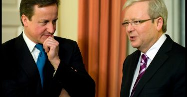 Then-Foreign Minister Kevin Rudd with UK PM David Cameron, 2012 (Credit: foreignminister.gov.au)