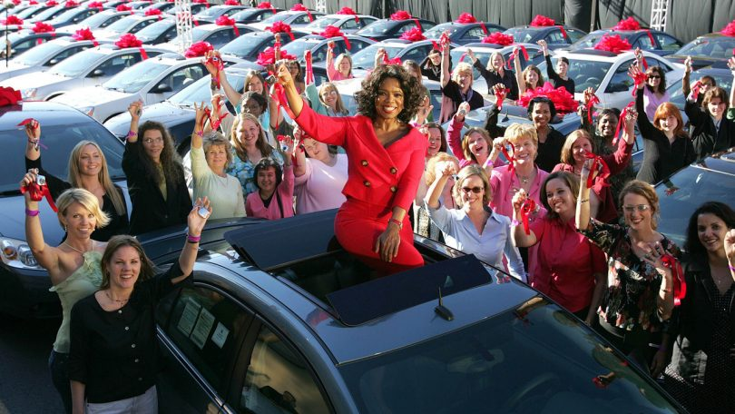 Oprah gives away free cars (Credit: motor1.com)