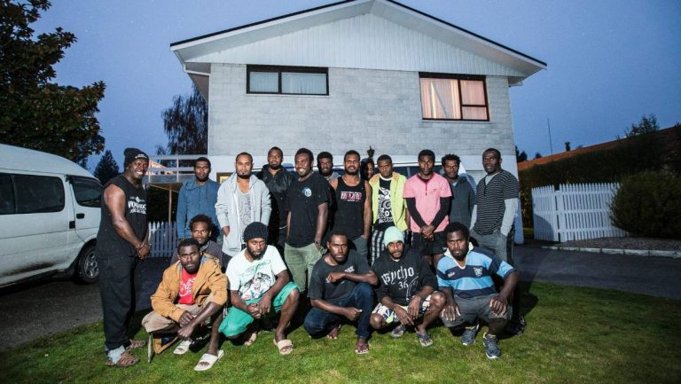 Vanuatu orchard workers on the RSE scheme share a suburban house in Motueka (Credit: Braden Fastier/stuff.co.nz)