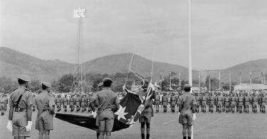 PNG's independence ceremony, September 16, 1975 (National Archives of Australia)