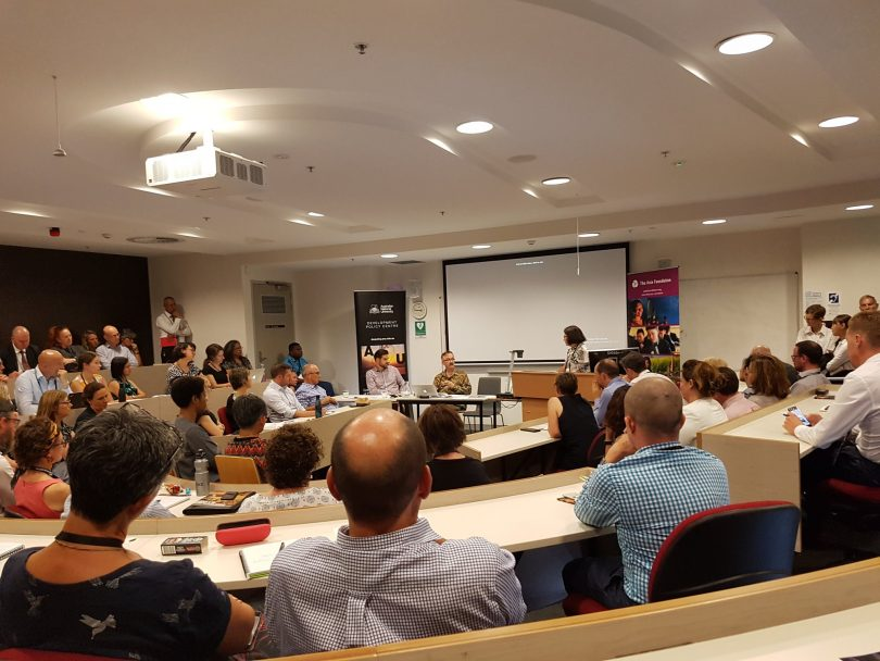 The integration review launch @AAC2019. (Credit: Zoe Mander-Jones/Twitter)