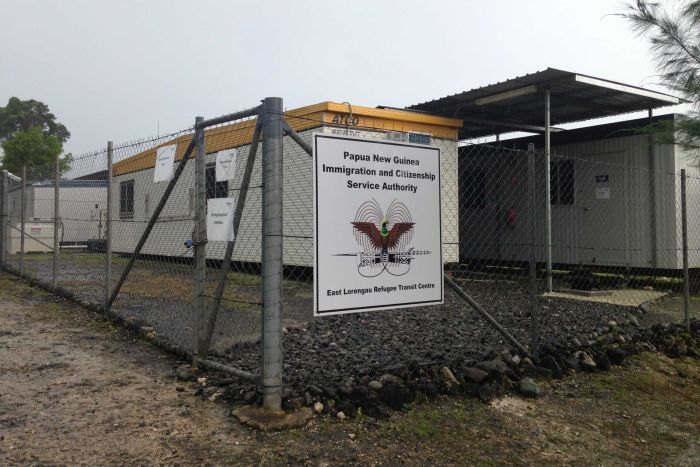 Outside the East Lorengau Refugee Transit Centre on Manus Island (Credit: Federal Government)