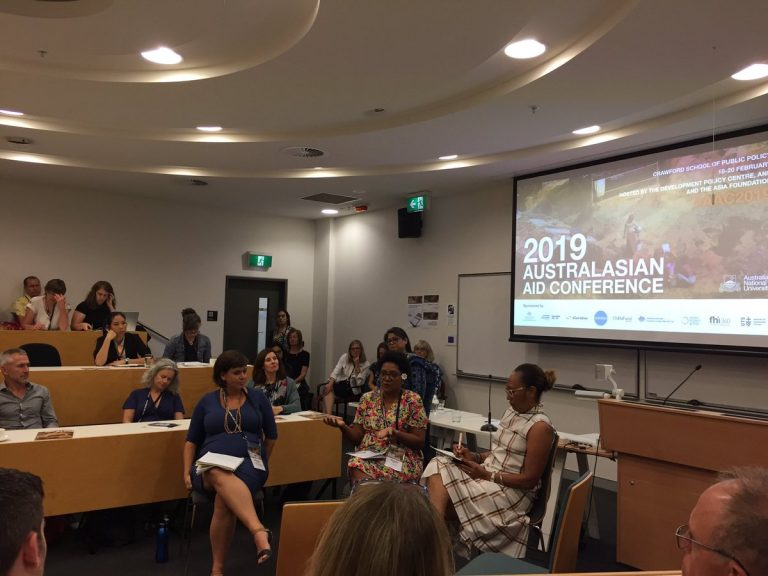 2019 AAC panel on women's movements in the Pacific (Credit: Christine Deng/Twitter)