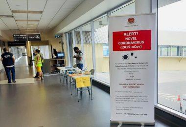 Screening for coronavirus at PNG International Airport began in January 2020 (Credit: PNG National Department of Health)
