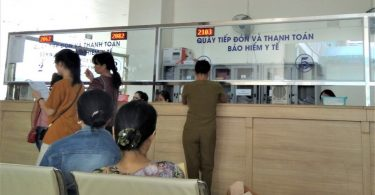 Hospital reception in Vietnam (Credit: Trang Do)