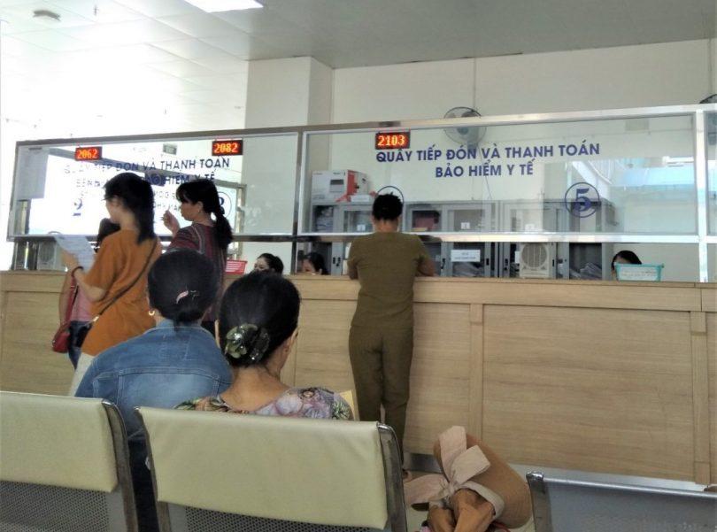 Hospital reception in Vietnam (Credit: Trang Do)