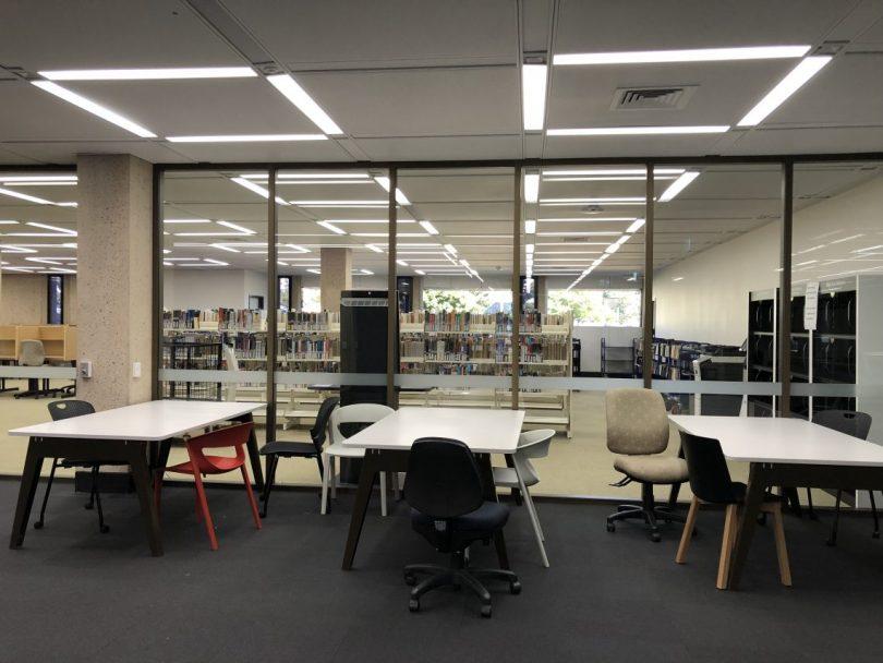 Quiet university campuses have become the norm under COVID-19 restrictions (Credit: Karen McNamara)