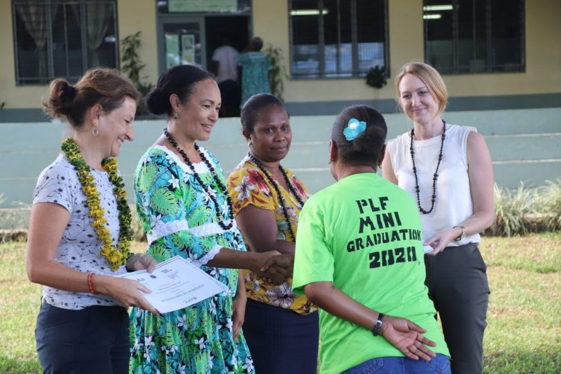 Recent graduation after work-ready training geared towards labour mobility. Organised in collaboration with the Vanuatu Labour Department, Pacific Labour Facility and APTC.