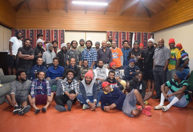 A team of ni-Vanuatu seasonal workers stranded in New Zealand (Pete Bumseng)