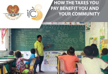 Flyers detailing the shared benefits of tax were included in letters sent to non-compliant taxpayers (PNG Internal Revenue Commission)