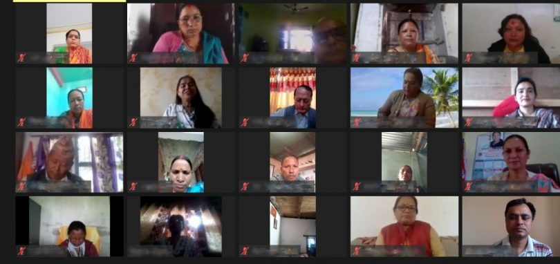 Virtual meeting with women representatives at local level (Credit: The Asia Foundation)