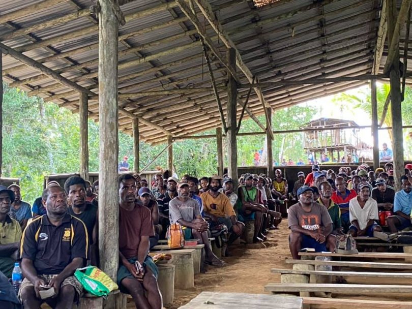 Church meeting in New Britain (NTM Papua New Guinea/Facebook) (Featured image: Against amending the Constitution to make PNG a Christian country)