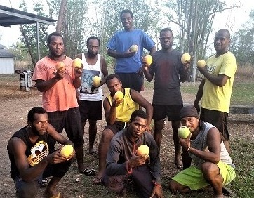 Ni-Vanuatu SWP workers in the Northern Territory (John Salong)