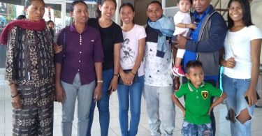 Cornelio with his family in Dili, Timor-Leste.