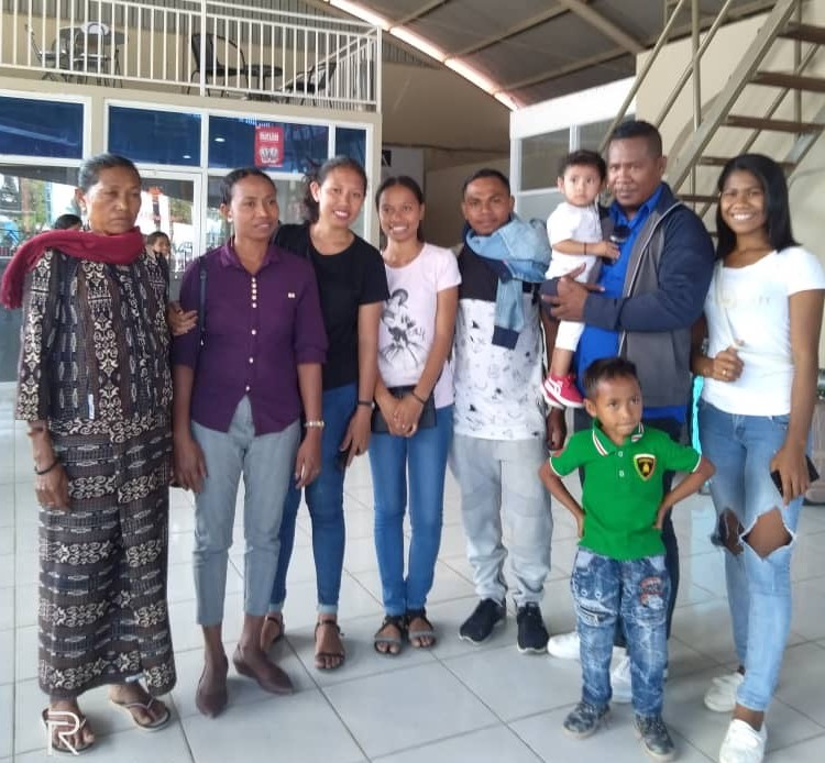 Cornelio with his family in Dili, Timor-Leste.