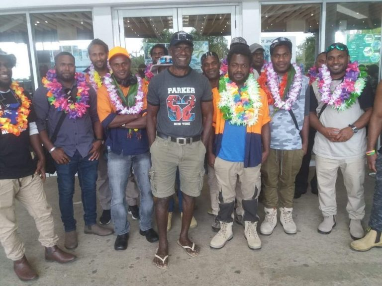 Workers return to Vanuatu following their time in Australia.