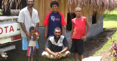 Ni-Vanuatu RSE worker and his family