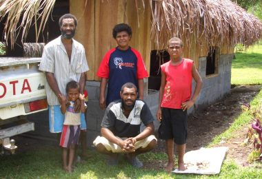 Ni-Vanuatu RSE worker and his family